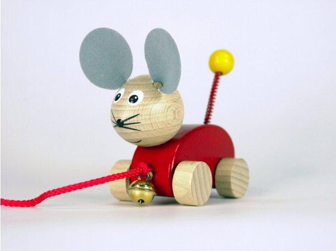 Tahací myška s rolničkou Monica