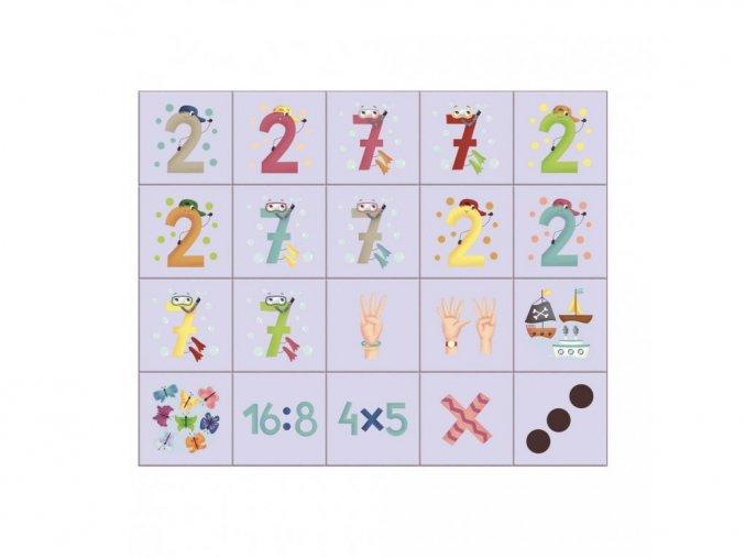 Obrázkové kostky - Naučné kostky Čísla 20ks
