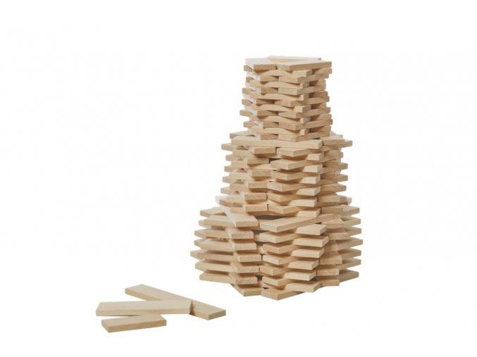 Dřevěné destičky 120 dílů