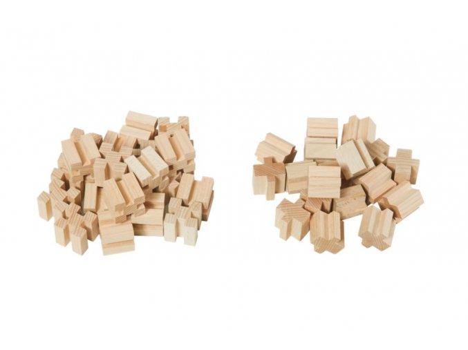 Dřevěné kostky 40  dílů