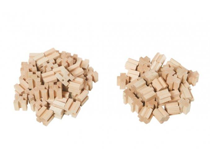 Dřevěné kostky 80  dílů