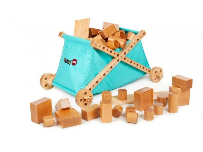 Kostky přírodní + box