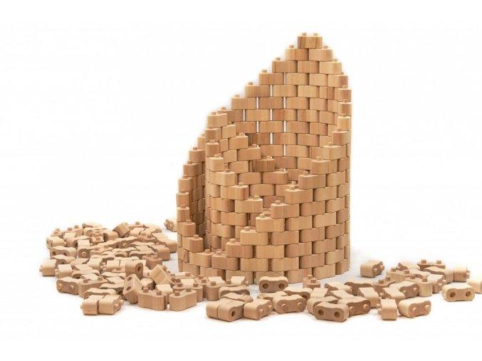 Dřevěná stavebnice Godi 224 dílů