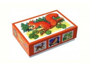 Obrázkové kostky - Zvířátka v lese 6ks