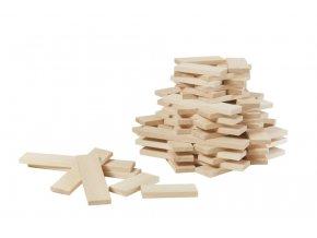 Dřevěné destičky 60 dílů