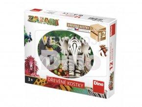 Obrázkové kostky - Zafari  12ks