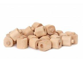 Dřevěná stavebnice Godi - sada malých kostek