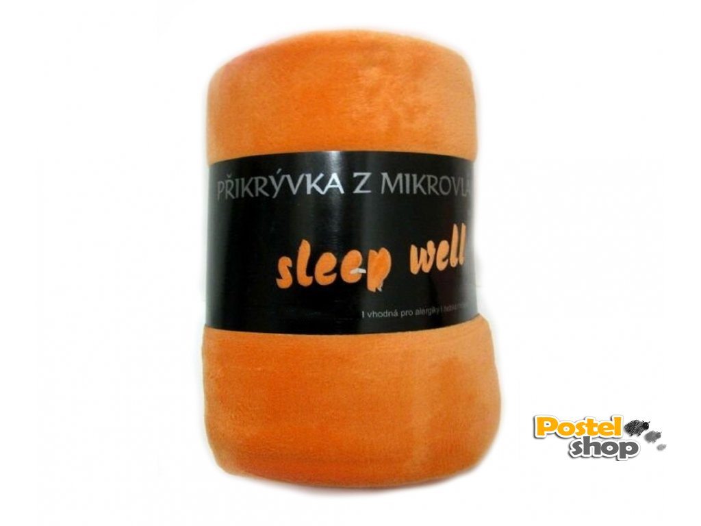 deka mikrovlákno sleepwell oranžová
