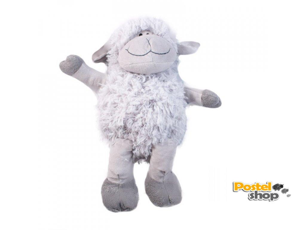 plyšová ovečka šedá