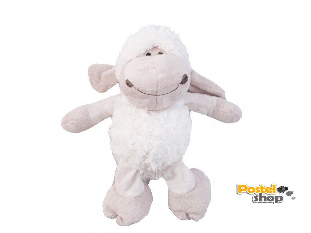 plyšová ovečka malá bílá
