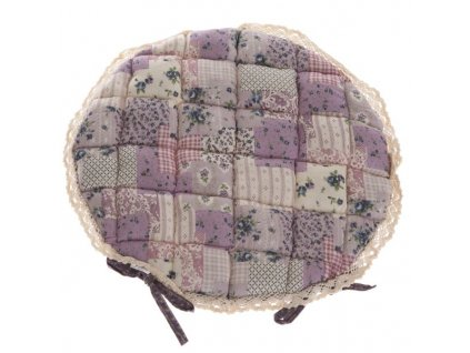 Sedák provence lila s krajkou o 40cm