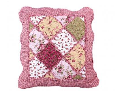 polštářek provence patchwork růžový