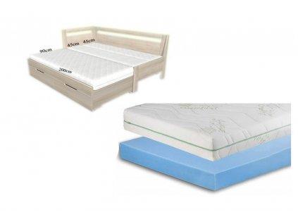 matrace do rozkládací postele 3 díly easy