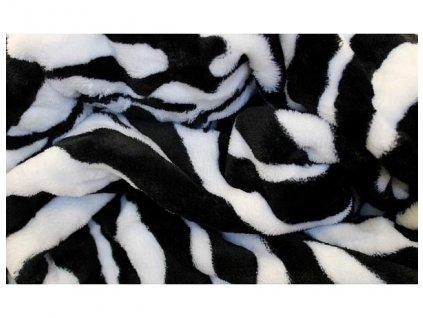 deka mikroflanel zebra