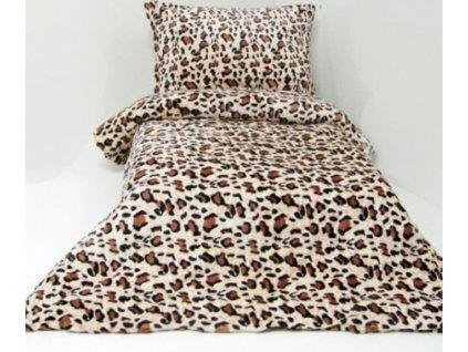 povlečení mikroflanel tygrované gepard