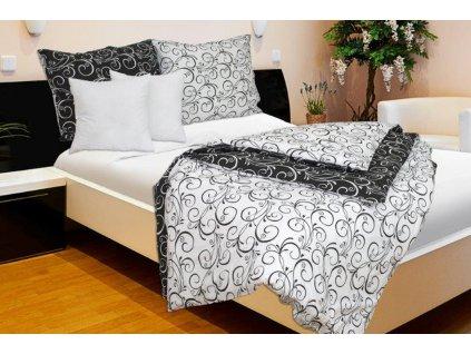 ložní povlečení karoline ornamenty černobílé