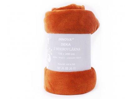 deka mikrovlanel oranžová