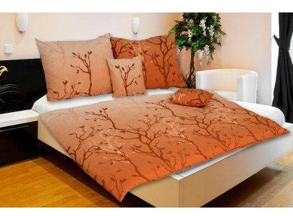 ložní povlečení karoline design stromy oranžové