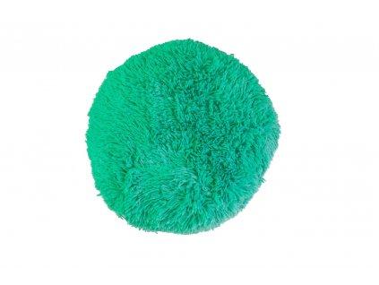 puf chlupatý polštář tyrkysový