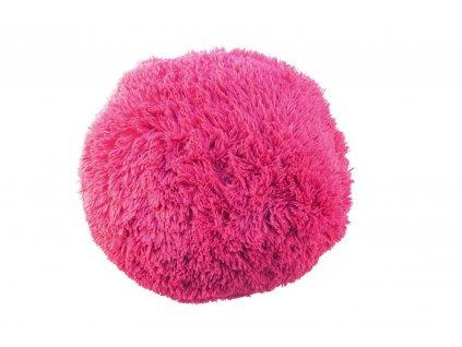 puf chlupatý polštář růžový