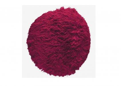 puf chlupatý polštář červený