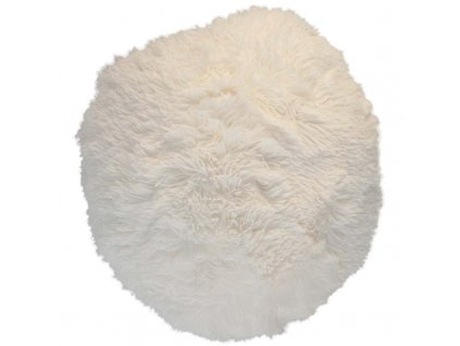puf chlupatý bílá