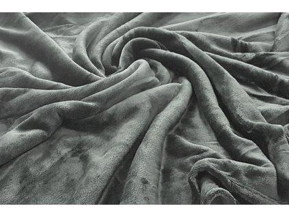 deka mikroflanel šedá s