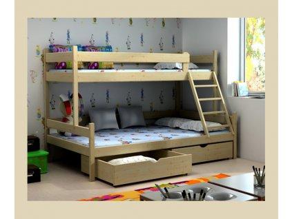 patrová postel rozšířené lůžko typ 2