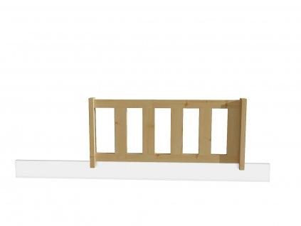 zábrna na dětskou postel borovicer masiv typ b