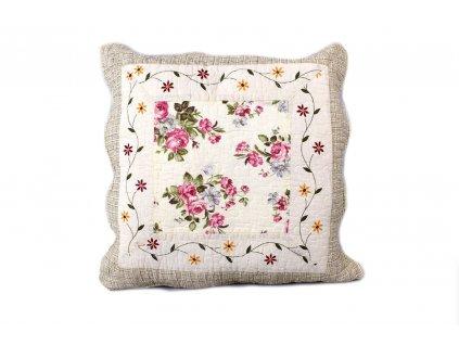 polštářek provence květovaný