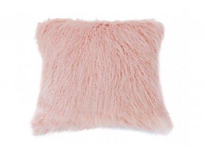 povlak na polštář chlupatý růžový