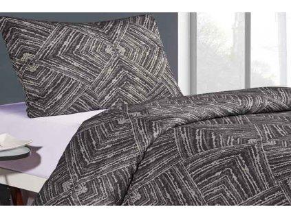 povlečení bavlněná příze Brissa vzor tmavě šedý