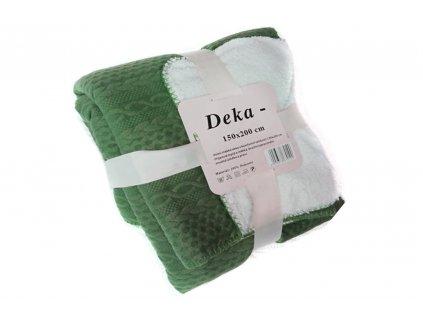deka mikrovlákno vzor zelená