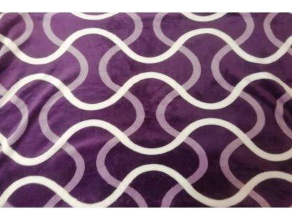 deka mikroflanel fialová vlna