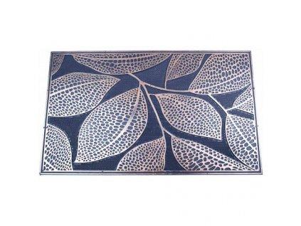 rohožka s bronzovou patinou listy