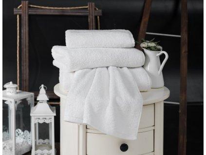 hotelový ručník bílý
