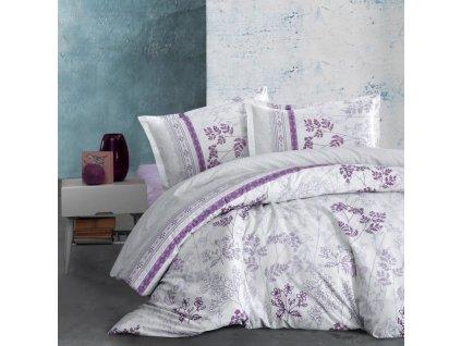 ložní povlečení kvalitex flanel lavenda fialová