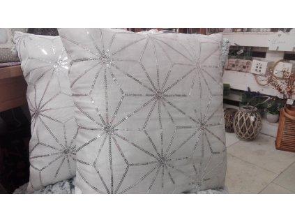 povlak na polštář bílý s glitry