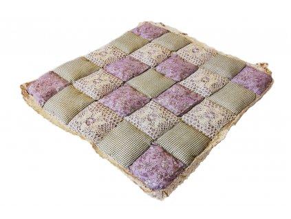 sedák provence s krajkou světle fialový jpg
