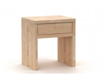 noční stolek buk se zásuvkou