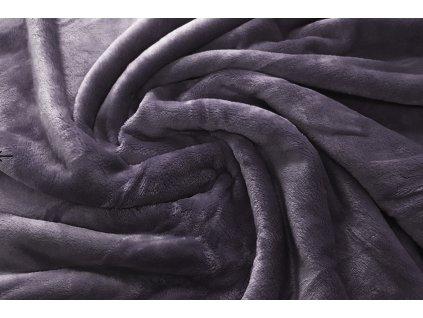 deka mikroflanel tmavě šedá II