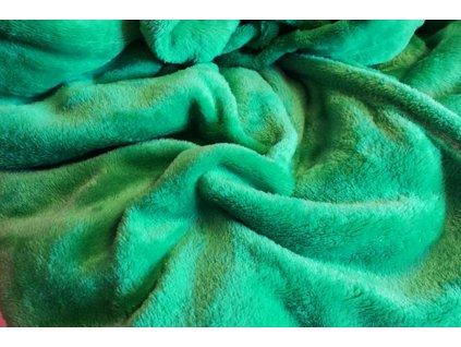 deka mikroflanel zelená