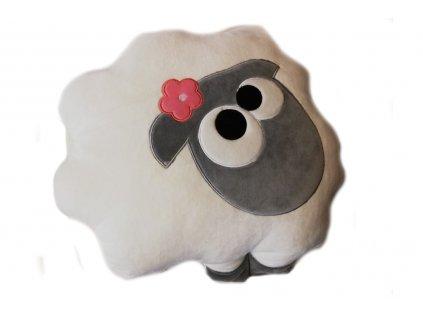 polštářek ovečka bílá