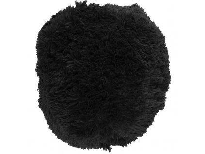 puf chlupatý polštář černý