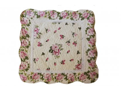 polštář provence květovaný s krajkou