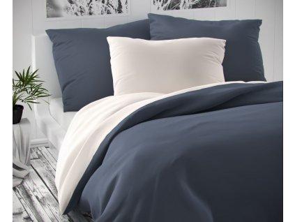 povlečení kvalitex luxury bavlněný satén šedé bílé