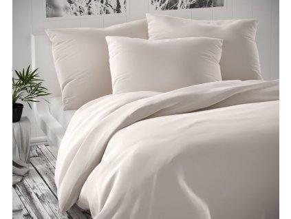 povlečení kvalitex luxury bavlněný satén bílé