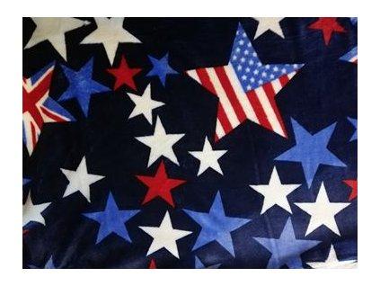 deka mikroflanel hvězdy americká