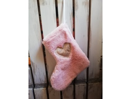 ponožka závěsná plyšová růžová