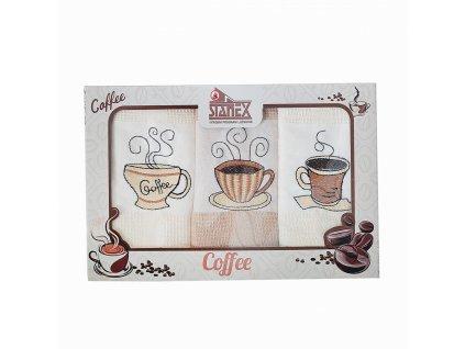 bavlněné utěrky káva stanex 3ks